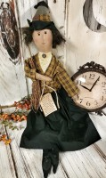 Rustic Primitive Witch Halloween Decorative Doll