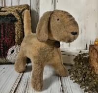 Primitive Handmade Aged Puppy Dog Home Decor Accent Doll - Handmade in USA