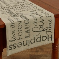 Farmhouse Style Inspirational Printed Cotton Table Runner