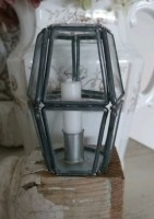 Leaded Glass Candle Holder with Candle Ornament