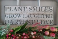 Rustic Cottage Farmhouse Garden Harvest Love Box Sign