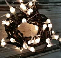 Buttermilk Hand Dipped Light Strand - Rustic Home Decor String Lights