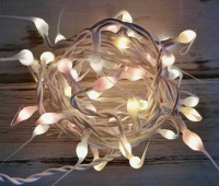 Pastel Mix Hand Dipped Light Strand - Cottage Shabby Chic String Moon Lights