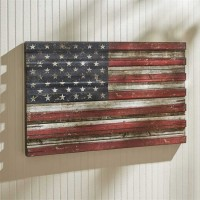 Rustic American Flag Wooden Patriotic Wall Art