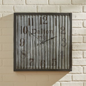 Farmhouse Industrial Style Large Galvanized Wall Clock