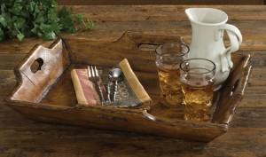Rustic Farmhouse Style Treenware Tray