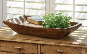 Reproduction Treenware Patched Trencher - Primitive Rustic Farmhouse Bowl