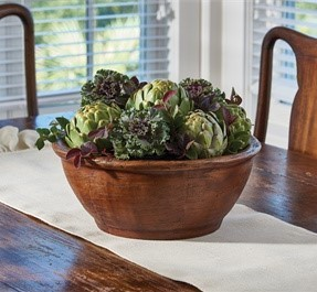 Farmhouse Resin Bracken Bowl Home Decor Treen Accent