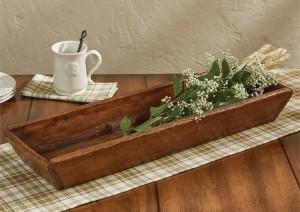 Primitive Rustic Farmhouse Treenware Large Candle Box