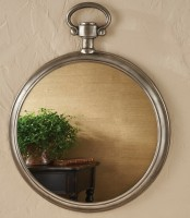 Large Pocket Watch Mirror