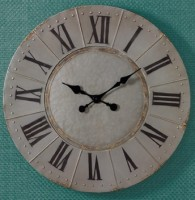 Farmhouse Industrial Style Metal Round Wall Clock