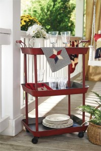 Red Utility Cart - Rustic Country Home Decor