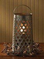 Vintage Cheese Grater Inspired  Electric Light / Lantern