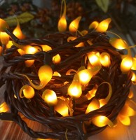 Mustard Hand Dipped Light Strand - Rustic String Lights