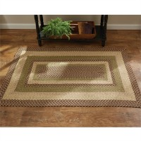 Country Cedar Lane Cotton Braided Rectangular Area Rug - 36 x 60