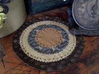 "Country Scrapbook Homespun Cotton 10"" Table Mat"