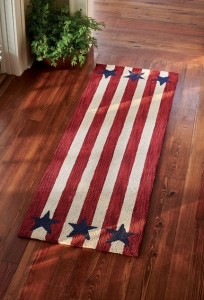 American Star Patriotic Hooked Rug Runner