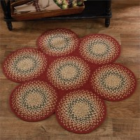 Mill Village Country Circles Cotton Braided Rug