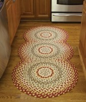 Mill Village Country Cotton Braided Circle Rug Runner