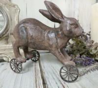 Bunny on Wheels Spring Farmhouse Figure