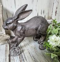 Vintage Inspired Bunny Rabbit on Wheels
