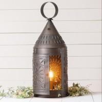"36"" Vintage Farmhouse Punched Tin Electric Lantern"