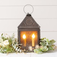 Punched Tin Harbor Lantern Electric Accent Light