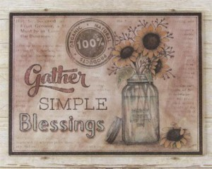 Primitive Country Sunflowers in Mason Jar Glass Kitchen Counter Cutting Board