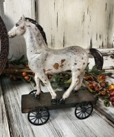 Rustic Farmhouse Horse on Wheels Home Decor Figure
