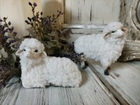 Vintage Inspired Mini Sheep Figurines