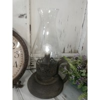 Rustic Renaissance Lantern - Hurricane Pillar Candle Holder