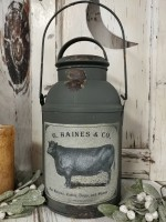 Rustic Farmhouse Decorative Milk Can Home Decor Accent