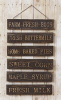 Primitive Country Multipanel Chain Farm Sign - Rustic Home Decor