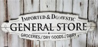 Vintage Advertising Inspired General Store Sign