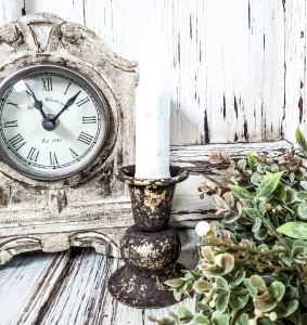 Alette Forge Gleam Taper Candle Holder - Antique Farmhouse