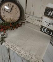 Farmhouse Cottage Ivory Homespun Table Runner