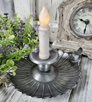 Vintage Inspired Shell Taper Candle Holder