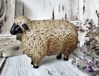 Rustic Folk Sheep Figure