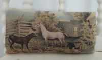 Vintage Horse Scene Farmhouse Home Accent Pillow