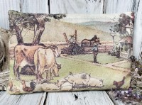 Vintage Farmhouse Inspired Farm Animal Pillow