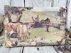 Vintage Farmhouse Inspired Farm Animal Pillow