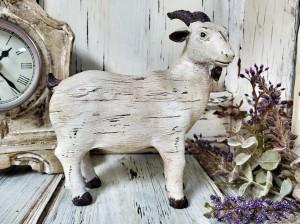 Rustic Ol' Goat Figure - Antique Farmhouse Farm Animal Decor