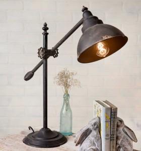 Rustic Vintage Inpsired Swing-Arm Desk Lamp