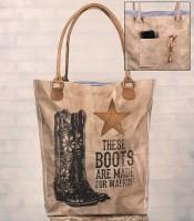 Cowgirl Boots Rustic Tote / Handbag