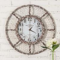 Rustic Farmhouse Chicken Wire Wall Clock