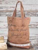 Rustic Vintage Inspired Mr. Brown Women's Tote / Handbag