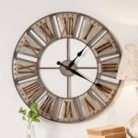 Rustic Farmhouse Industrial Big Ben Metal Wall Clock
