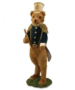 Folk Parade Teddy Bear Figure - Home Decor Accent Piece