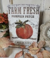 Farm Fresh Pumpkin Patch Autumn Farmhouse Box Sign
