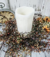 Rustic Petite Bittersweet Autumn / Fall Pillar Candle Ring